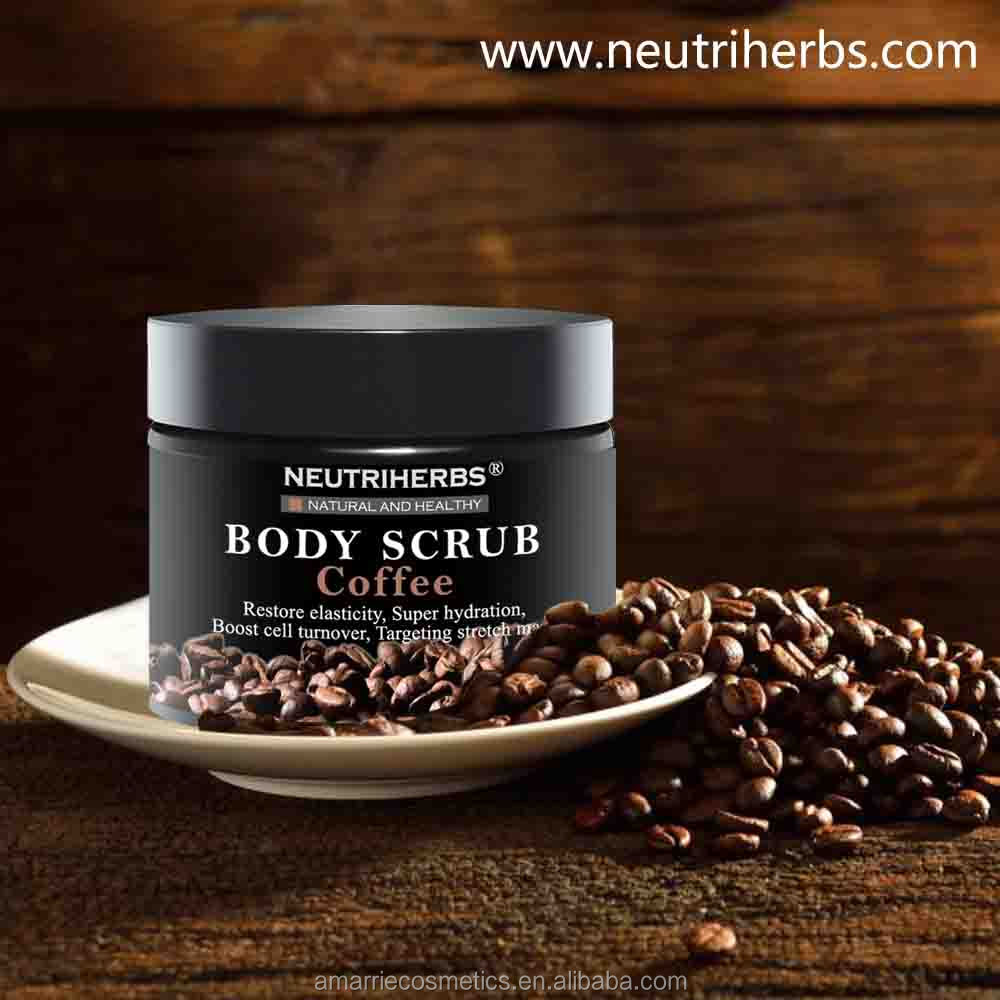 Pure Body <strong>Natural</strong> Reduce Stretch Marks Antioxidant Skin Whitening Deep Cleansing Organic Coffee Body Himalayan Salt Scrub