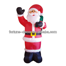 Christmas Inflatable Santa with moving hand and giftbag