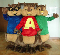 Good quality EVA plush chipmunk costumes, alvin chipmunks mascot costume, alvin and the chipmunks costumes for adults