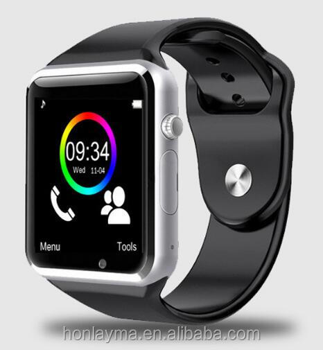 2016 New A1 Bluetooth Smart Watch A1 Wrist Watch Men Sport Watch For Android <strong>Phone</strong> 0.3Mp Camera SIM+TF Card Slot