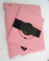 360 degree rotation case for iPad4 with stand back with hand-holder strip