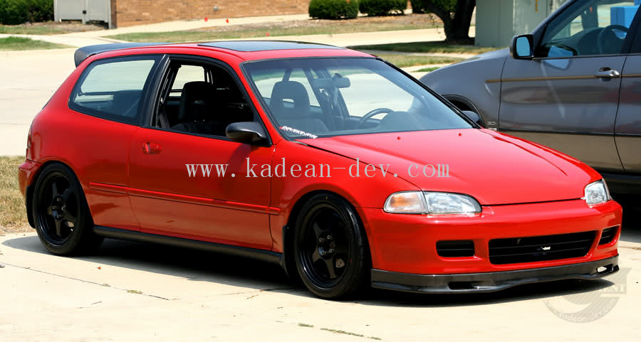FOR CIVIC EG HATCHBACK SPOON STYLE FRONT LIP FIBERGLASS