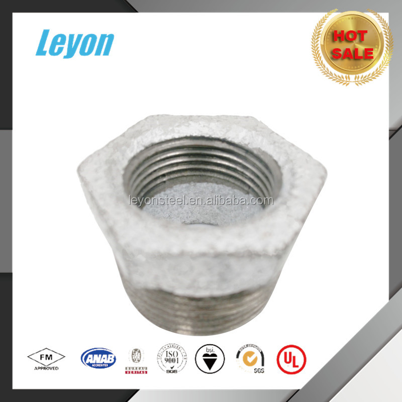 Different Size China Malleable Iron Galvanized Bushing Pipe Fittings