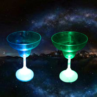 310ml party led plastic martini glass
