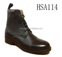horse steel bottom A-grade leather commander formal military policeman's shoes