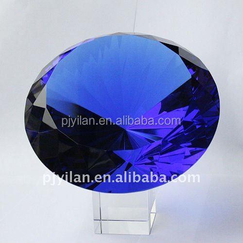 nice cheap customer made blue gift good quality blue crystal diamond