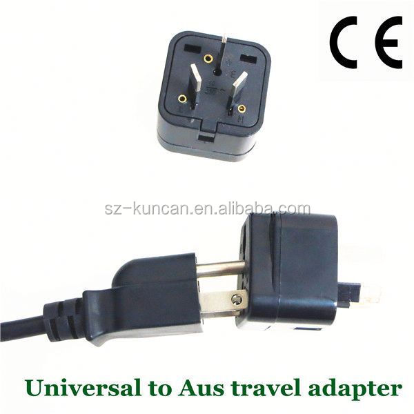 AU/US/EU/South African travel adapter to AC power plug wholesale