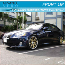 DS STYLE POLY URETHANE BLACK FRONT BUMPER LIP SPOILER FOR 06-08 LEXUS IS250 IS350 BODYKIT