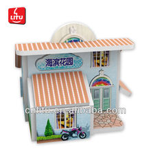 7005 3D puzzle PROMOTION CARTOON HOUSE EDUCATIONAL GAME TOYS FOR KIDS DIY MINI BUILDING MODEL