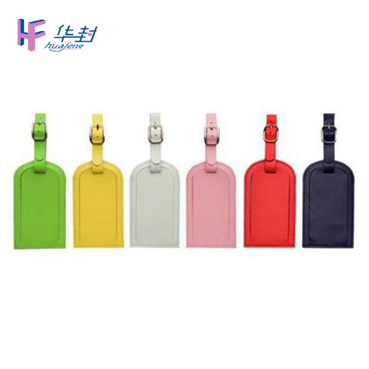 Hot sales customized colorful leather luggage tag