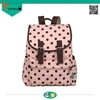 wholesale latest arrival preppy style contracted dots print young girls cute canvas backpacks bag for sale elegance design