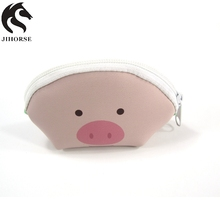 Pink Accept Logo Custom Cute Silicone Coin Purse For Daily or Gift