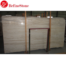 Cream white travertine stone