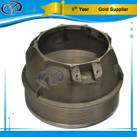 customized steel precision casting generator top cover