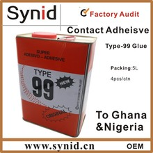 Original TYPE 99 Neoprene contact adhesive glue 5L for African