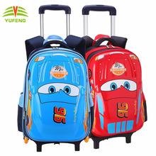 2017 Fahion Shopping 3D Car Shape Bags Hard Shell Kids Rolling Suitcase School Trendy Trolley Backpack for Child