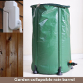 Collapsible PVC garden rain barrel