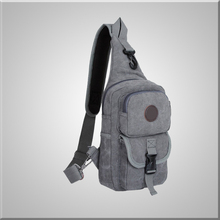 Sports Unbalance Sling Bag for Men Canvas Chest Pack/Hiking Bag