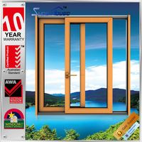 Superhouse China supplier Australia standard aluminum clad wood windows and doors