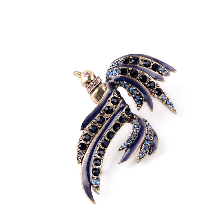 Fashionable women jewelry costume large bird brooch wholesale indian jewelry brooch