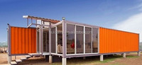 Stylish luxury portable container house with toilet and office