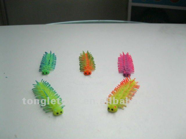 colorful worm Puffer Ball toy/TPR puffer ball