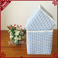 S.D home usage rectangular rattan laundry decorative basket