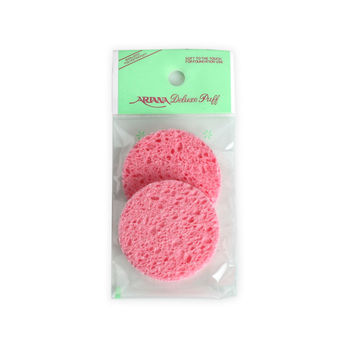 Pink Round Cellulose Sponge_small_2pcs