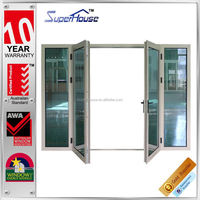 Made in china As2047 As2208 standard aluminum metal french door