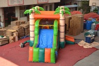 Factory direct inflatable slide,inflatable combo ,inflatable jumping bouncer with palm tree