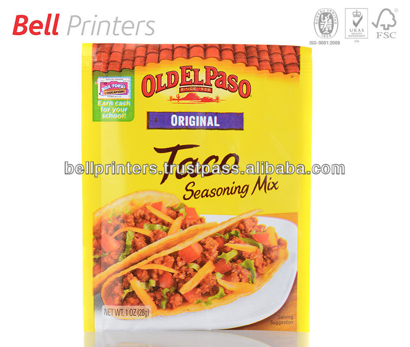 Taco Shells outer paper card board box printing from India
