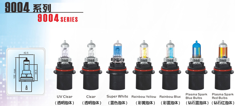 car 12v 100w halogen light bulbs for 9004 headlight