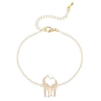 QM-011 Chinese Cheap Bracelets Gold Plated Charm Giraffe Jewelry Bracelet
