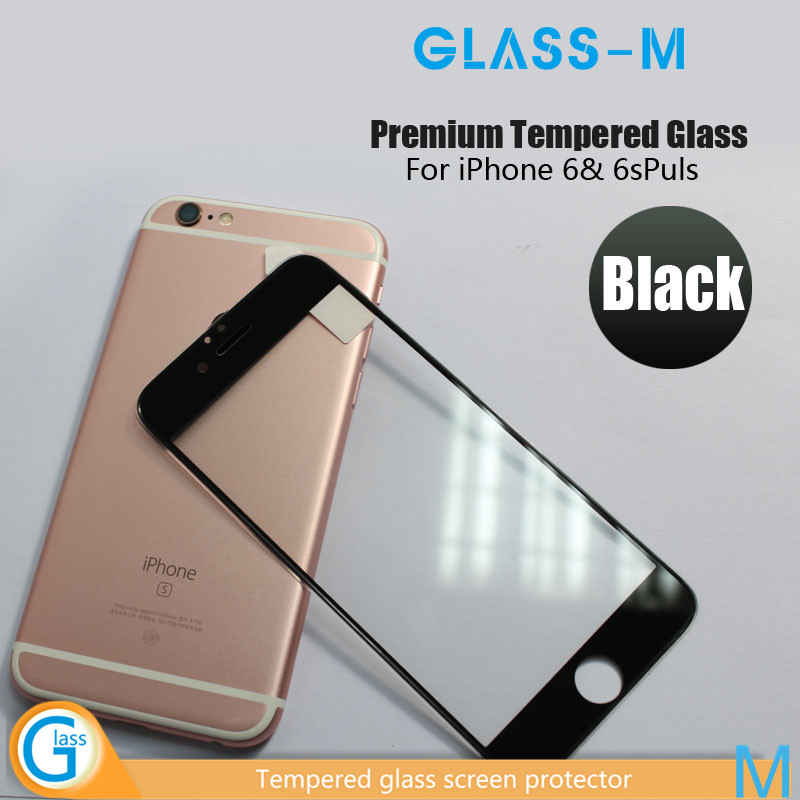 Shockproof 3D Silicone Border Tempered Screen Glass Protector For iPhone6s and iPhone 6s Plus with Wholesale Price!