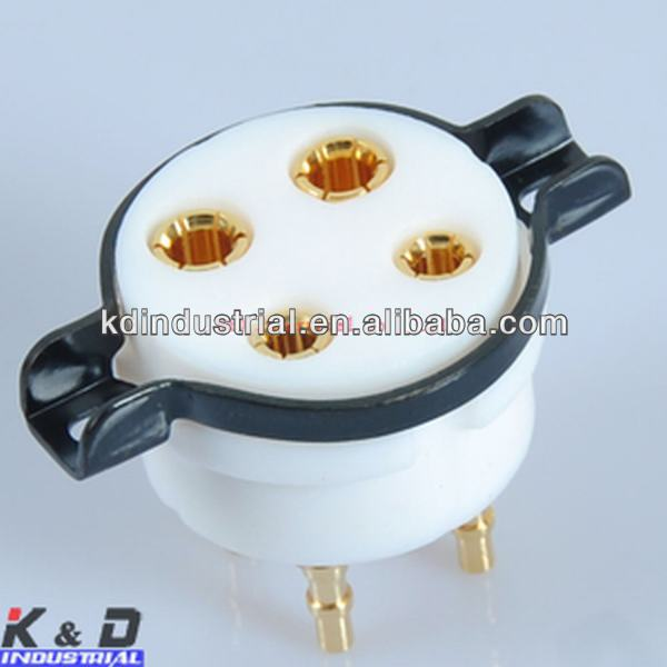 Teflon 4Pin 300B 2A3 <strong>101</strong> 811 801 Tube Valve Gold Pin Tube Socket