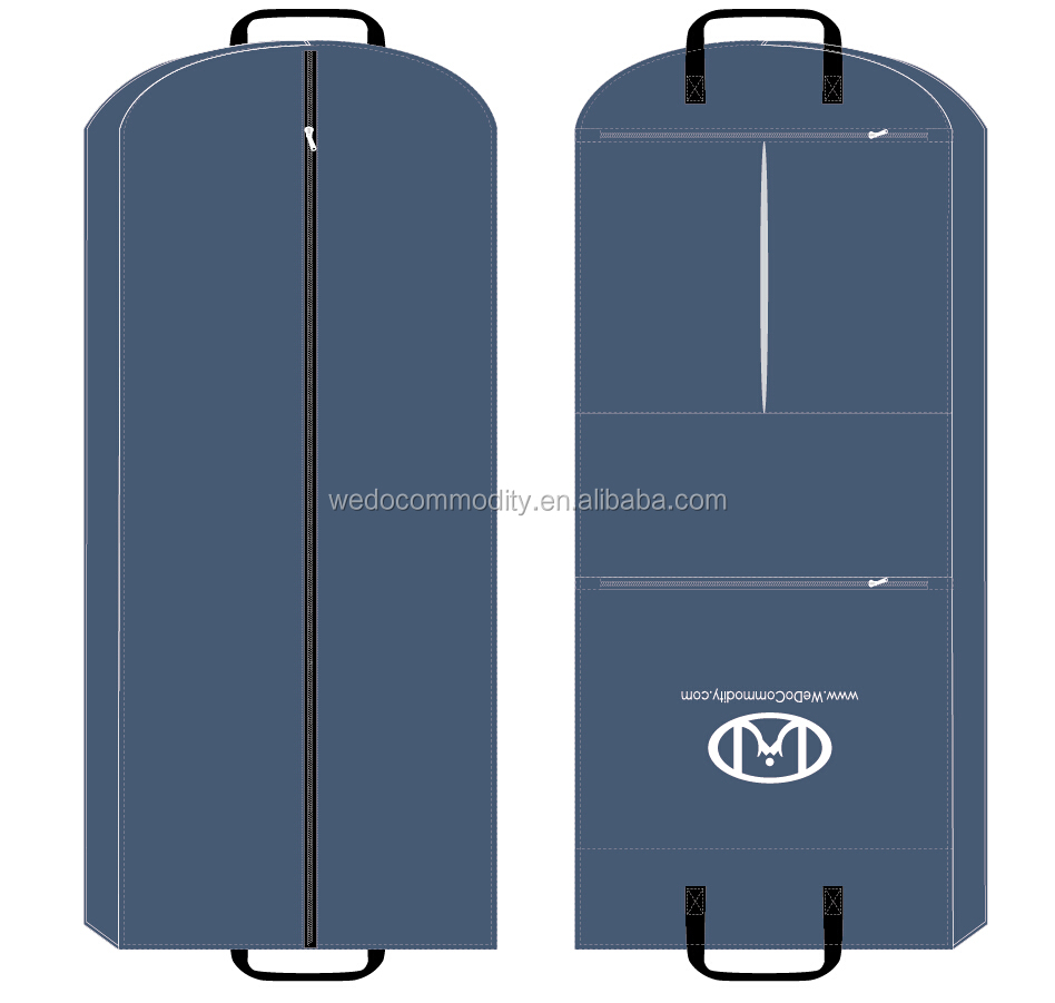 luxury garment bags foldable suit cover big nylon custom bags