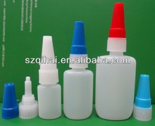 20ml plastic HDPE Cyanoacrylate adhesive super glue bottle with long thin metal needle tip JB-001