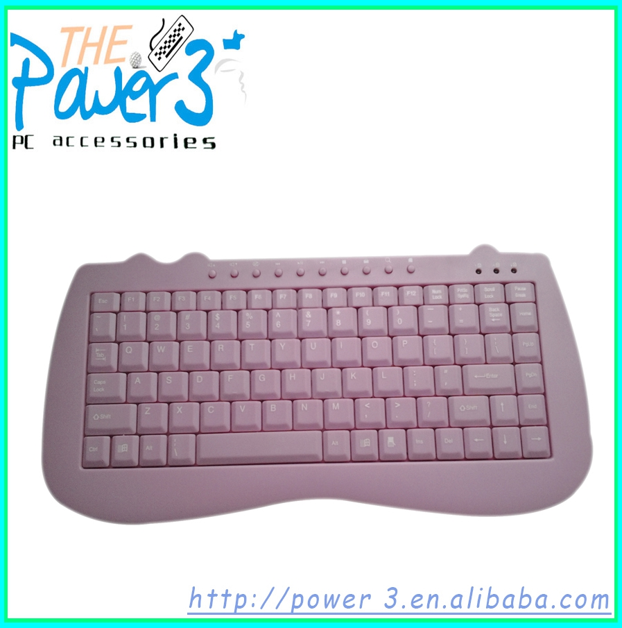 Hot selling small silicon computer keyboard