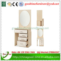 wooden modern makeup table with mirror dressing table with mirror