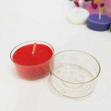 Polycarbonate clear plastic candle tealight cups