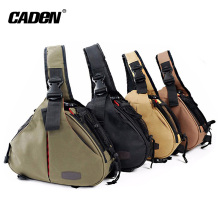 Caden Hot Selling Trendy Triangle sling shoulder bag K1 Waterproof Dslr Camera bag