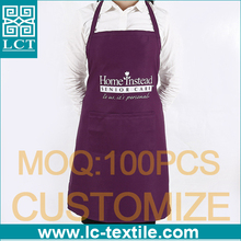 special purple color Home/ Garden/cleaning uniform apron with pockets