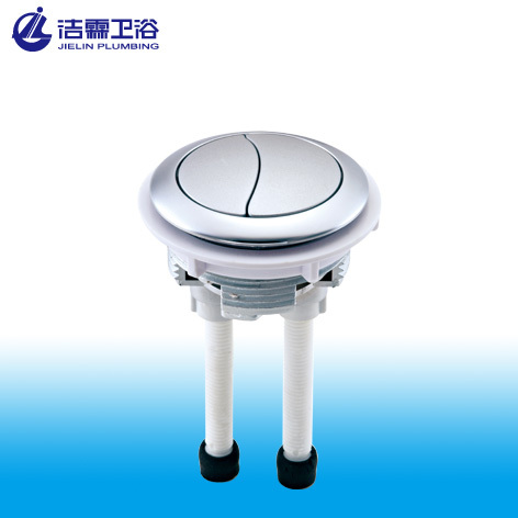 Toilet dual round push button
