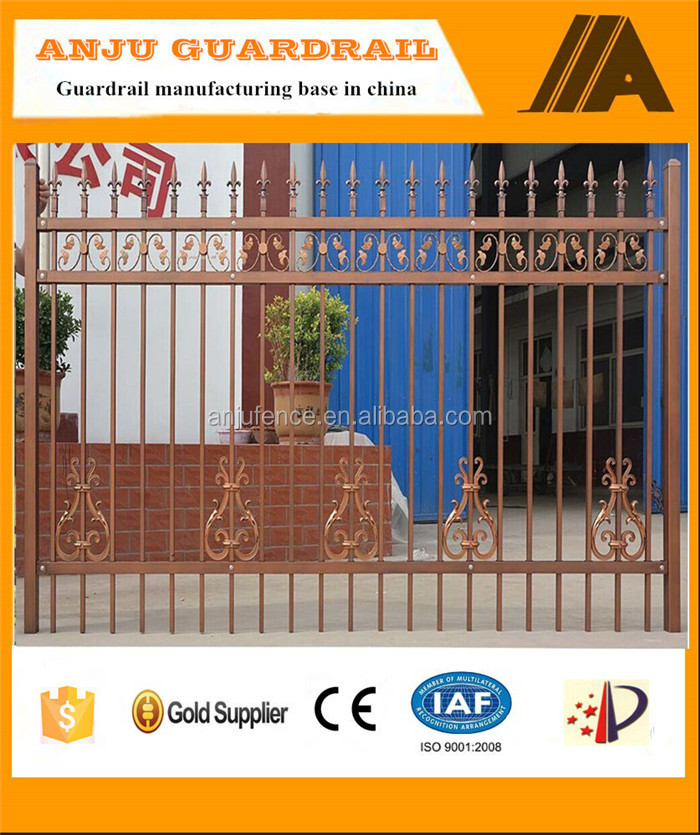 DK004 Gates and steel fence design for villa and garden
