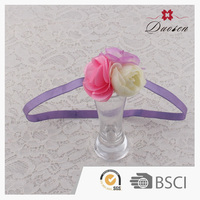 Wholesale High Quality purple flower baby headband ,top baby headband