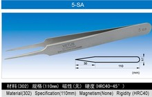 5-SA 110mm VETUS High precision tweezers for computer repair tools