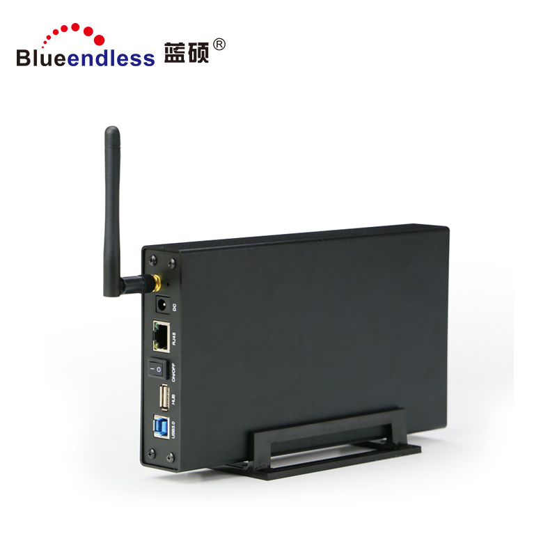 Blueendless New Hot WiFi Router WIFI 3.5 Hdd Lan Enclosure Box