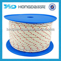 8mm white&red colored decorative cotton rope for sale