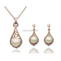 fashion wholesale pearl necklace set NS-tz1688210