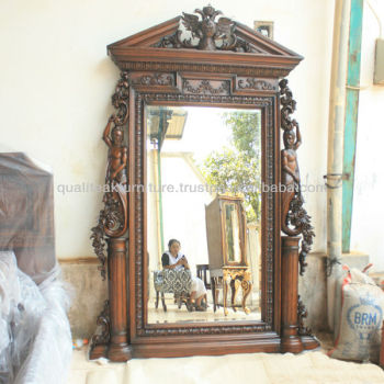Decorative Wall Mirror With Heavy Carving Detail - Alexy Mirrors